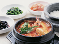 Korean food bibimu