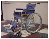 In the wheelchair use