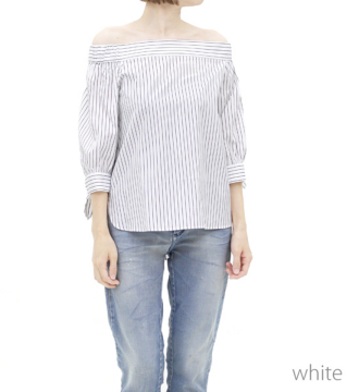 ☆..*B7 offshouldre stripe blouse*..★