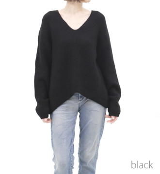 ☆YAK ridge v-neck pullover☆