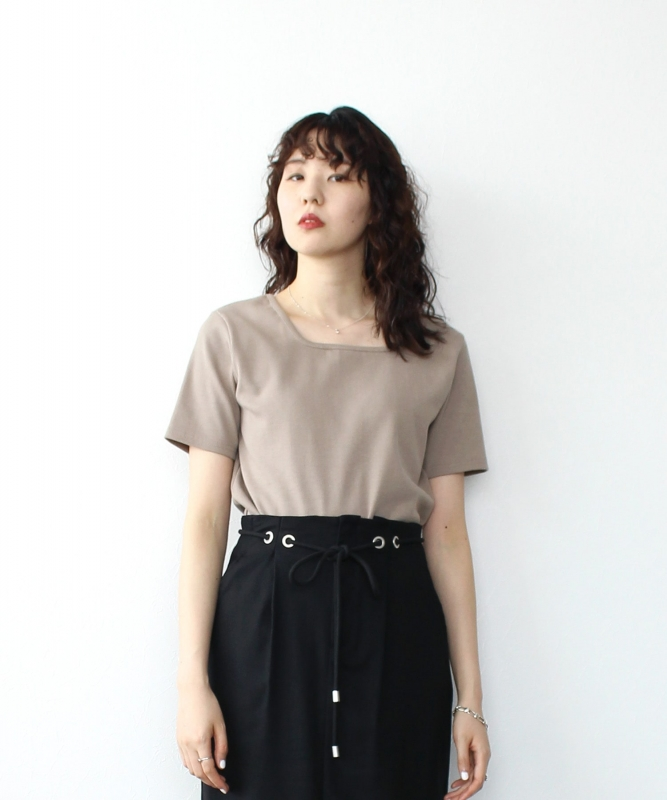 Sugar Rose☆square neck 2way tops