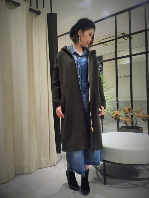 ☆..*wool melton hooded long coat*..★