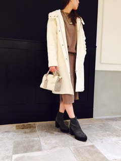 ☆wool inside warm hooded coat☆