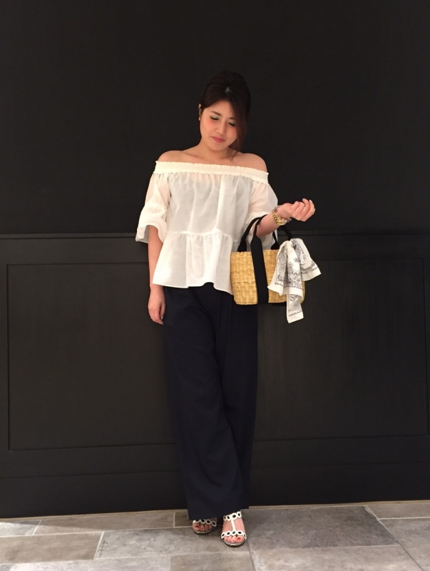 ☆..*cotton silk offshoulder blous*..★