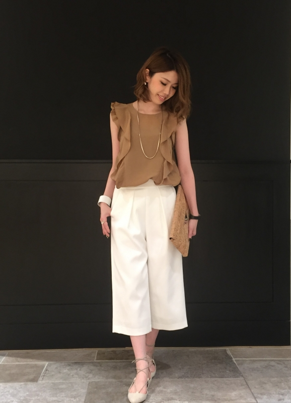 ☆..*line star frill design blouse*★